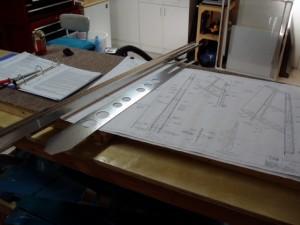 Vertical Stabilizer rear spar and reinforcing plate.